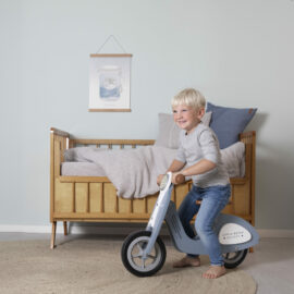 4385 LD wooden scooter - blue 2